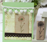 High Quality Dandelion 7 3cm Scrapbooking Stamp Set Handmake Wooden Rubber Stamps Carimbos For Card Diy