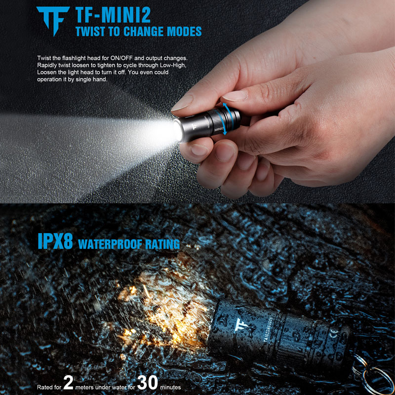 3W Super Mini LED Flashlight Keychain Torch Light Waterproof High Brightness Led Torch Lamp Light For Household CA18-3X