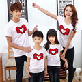 fashion 2017 casual T shirt mother and daughter son father clothes matching family clothing  family look child outfits