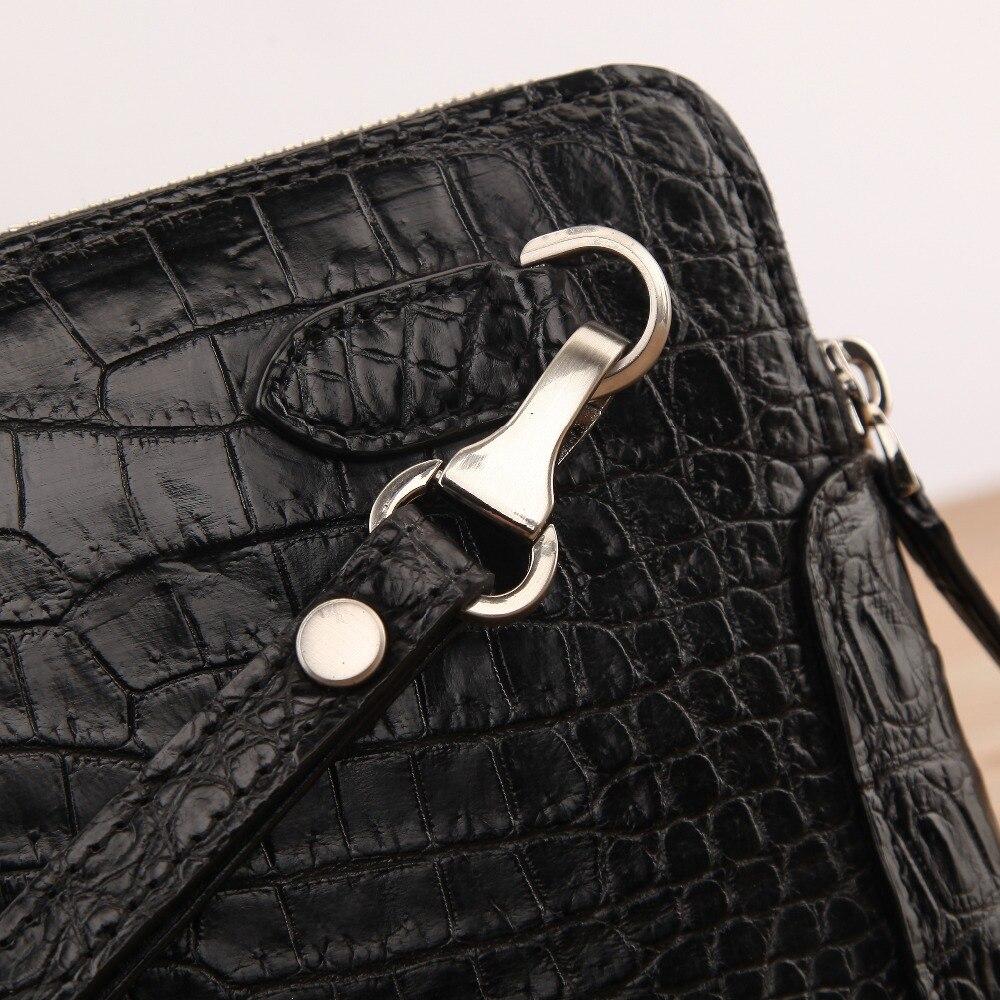 Haut Männer Krokodil Echtem Futter Verschluss Halter Doppel Inneren Business Kuh Brieftasche Kupplung Große Mit Echte Zips Größe AqBEHnFqw