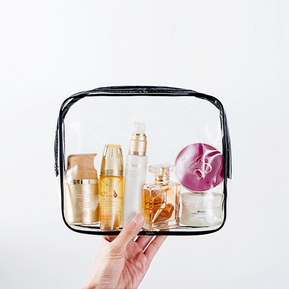 Women Travel PVC Cosmetic Bags Transparent Clear Zipper Men Makeup Bags Organizer Beauty Toiletry Bag Bath Wash Make Up Case brand designer makeup bags sequins luxury cosmetic bags organizer women toiletry bag wash beautician professional cosmetic case