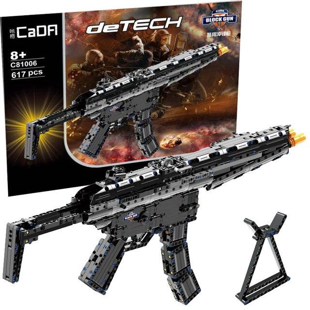Revolver Pistol Power GUN SWAT Military Army Model Building Blocks Brick Set Weapon Compatible PUBG Toys For Boys 2