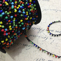 3MM 100Yards Colorful Czech Glass Seed Beads Cords Ropes Wires Jewelry Accessories Findings