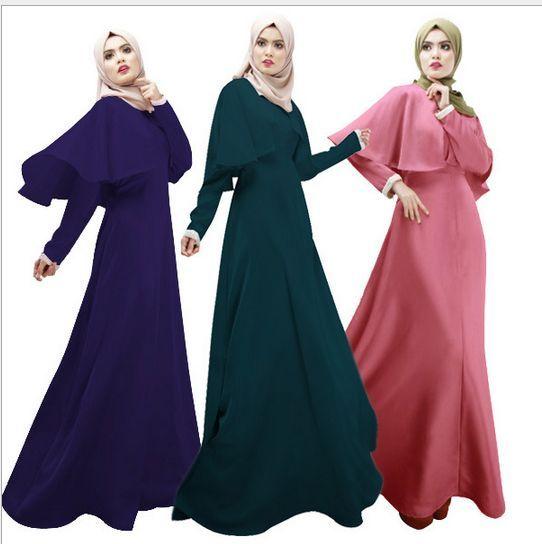 Новое поступление исламская мусульманской длинное платье для женщин малайзия abayas дубай турецкий женской одежды высокое качество макси длинное платье 3002