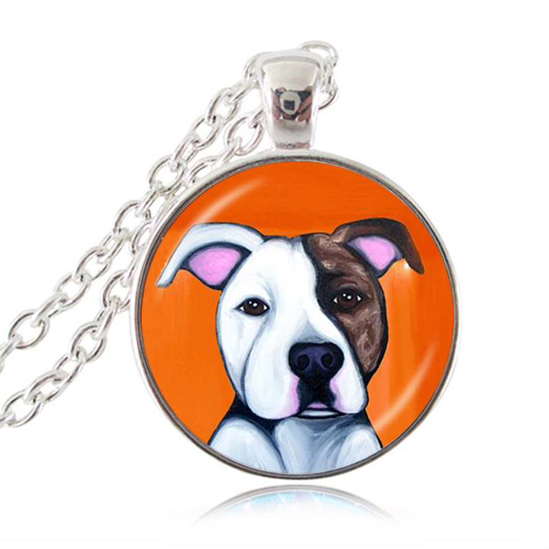 Necklace pitbull puppy for pit bull lover aloadofball Choice Image