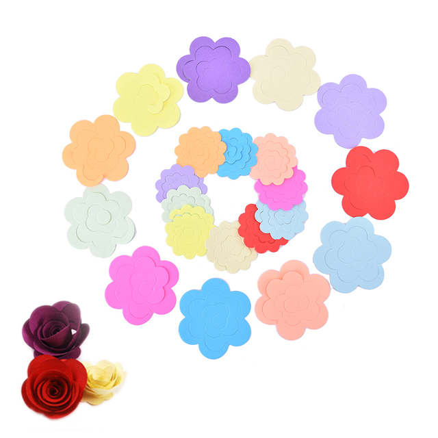 44pcs 5.5cm/7.5cm DIY Origami Paper Multicolor 3D Stereo Craft Paper Paper Rolling Flowers Quilling Material 2 Sizes