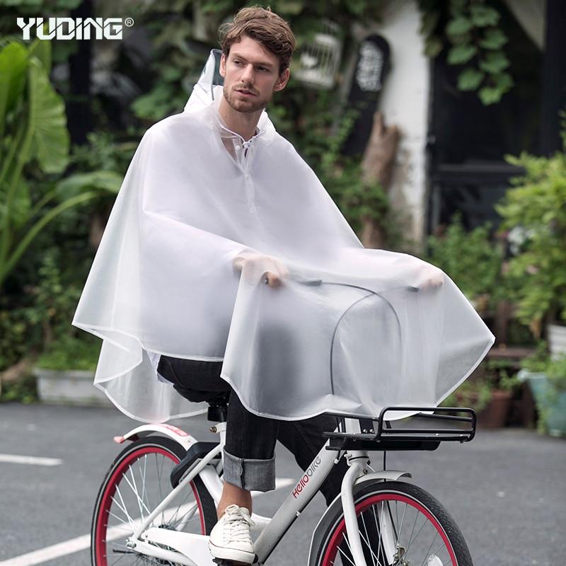 Yuding Rain-Poncho Handbag Bicycle Thick Male Waterproof Outdoors Fashion Men for