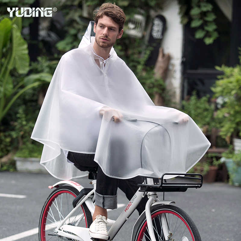 Yuding Outdoors Bicycle Rain Poncho Waterproof Thick Male Rain Capes Fashion Cycling Rain Ponchos For Men With Handbag
