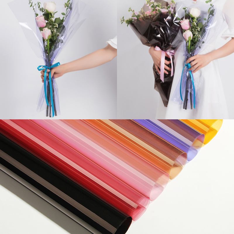 Us 5 99 10 Pcs Cellophane Flowers Wrapping Paper Transparent Basic Flower Paper Diy Bouquet Material Flower Shop Supply Wedding Decor In Gift Bags