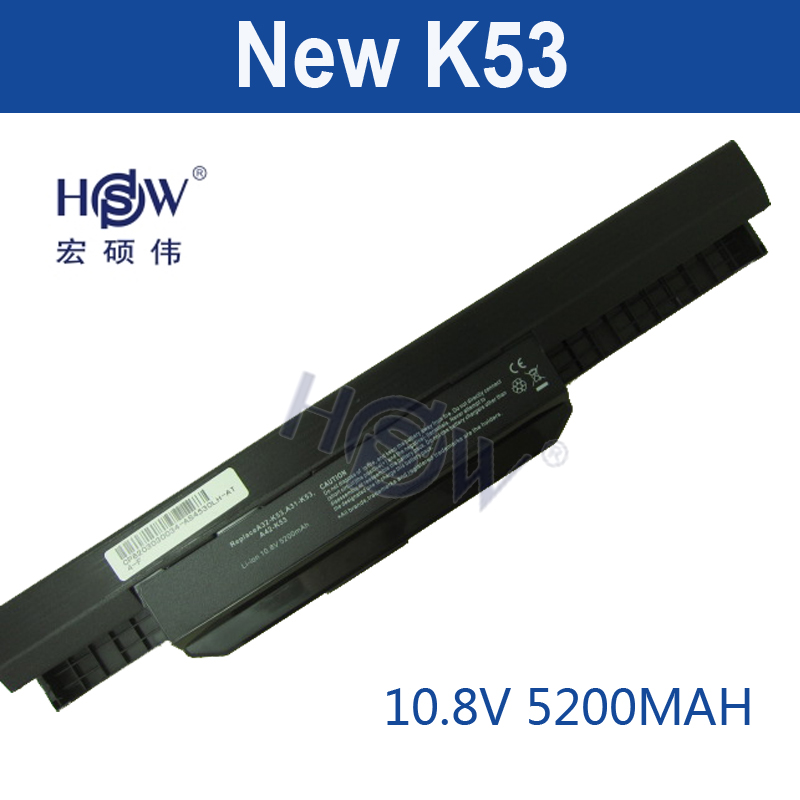 HSW laptop Battery For Asus X54H X53U X53S X53SV X84 X54 X43 A43 A53 K43 K53U K53T K53SV K53S K53E k53J A53S A42-K53 A32-K53 brand new and original laptop case for asus x53u k53t a53z x53u a53u k53 lcd back cover top case ap0j1000100 glossy
