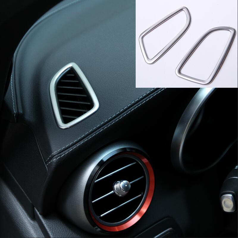 For Mercedes Benz GLC X253 C Class W205 Car Styling Air Conditioning Outlet Sticker Trim Stainless