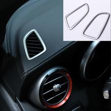 Для Mercedes Benz GLC X253 C класса W205 стайлинга автомобилей Кондиционер выходе Стикеры отделкой Нержавеющаясталь крышка автомобильные аксессуары