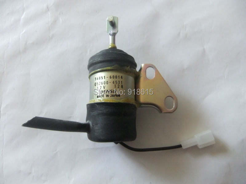 kubota D722 SOLENOID STOP DIESEL GENERATOR PARTS  PART NO.16851-60014 for kubota fuel shut off solenoid 16851 60010 16851 60014 052600 4531 for denso b7410d bx1500d bx1800d