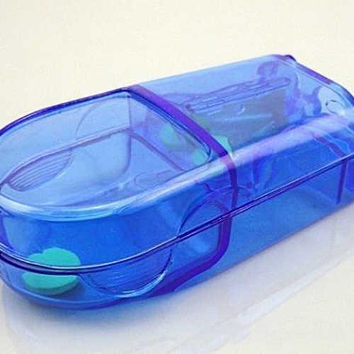 を Joylife 折りたたみピルケース金属ピルカッター医学オーガナイザーポータブルピルボックス収納容器ホルダータブレットカッタースプリッター