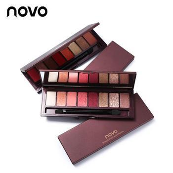 NOVO 8 Cores Shimmer Eyeshadow Waterproof Long-lasting Paleta de Sombras Matte Shimmer Sombras de Olho Cosméticos