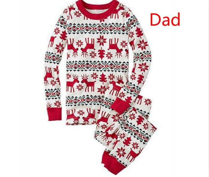 Семейный Рождественский пижамный комплект; одежда для мамы и ребенка; свитер с длинными рукавами и принтом+ штаны; комплект из 2 предметов; Семейные комплекты - Цвет: Dad