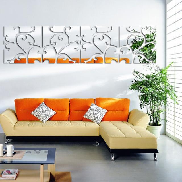 3D Mirror Wall Stickers Muraux Large Plane Modern Home Decor DIY ...