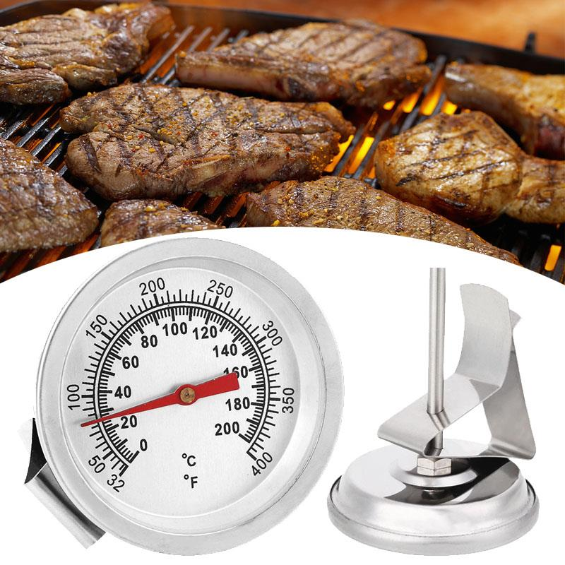 High Quality SOLEDI Silver Food Thermometer Gauge Tools with 200 Degrees Celsius Temperature Range and Quick Temperature Measurement