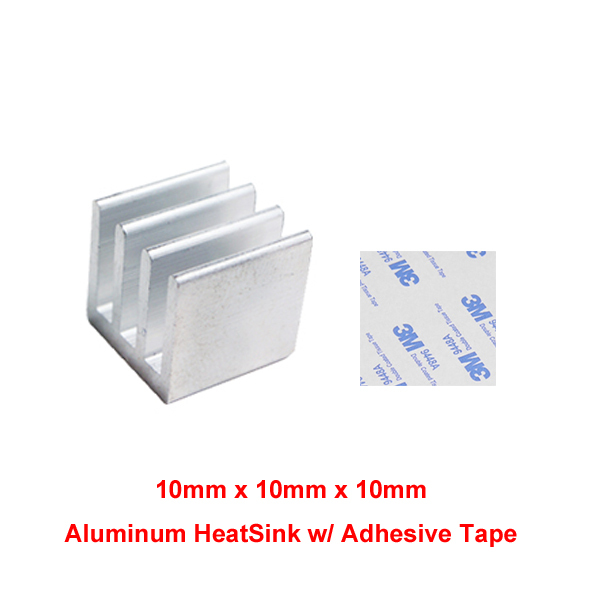 10x10x10mm Aluminum Heat Sink Radiator