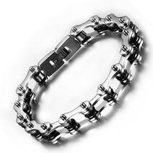 Motorcycle Chain Bracelets Bangles Stainless Steel Bike Bracelet Unsex Black Hot Fashion Jewelry Pulseira Masculina 230*10mm