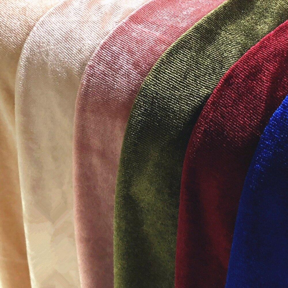 High grade solid color velvet gold velvet clothing fabric stretch velvet fabric in Fabric from Home Garden