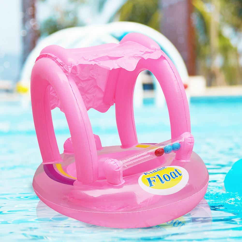 Inflatable Kids Floats Seat Cushion Sunshade Baby's Seat Children Tube Swimming Pool Accessories