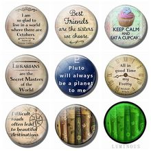 Inspirational Life Quotes Fridge Magnet Set 8PCS 25MM Luminous Glass Refrigerator Decoration Interesting Letter Magnetic Sticker