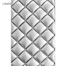 Laeacco Silver Headboard Texture Leather Surface Of Sofa Pattern Portrait Photo Backdrops Photographic Backgrounds Studio