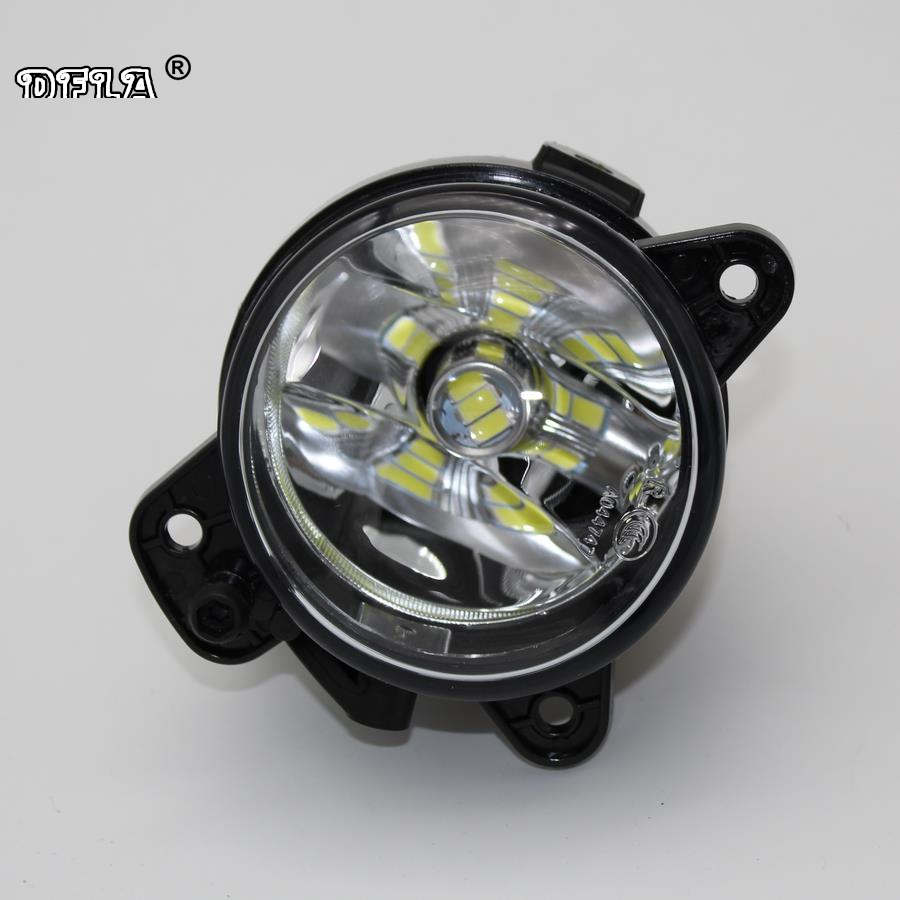 Right Side For VW Transporter T5 Multivan 2003 2004 2005 2006 2007 2008 2009 2010 Car Styling Front LED Fog Light Fog Lamp projector lamp bulb et lab80 etlab80 for panasonic pt lb75 pt lb80 pt lw80ntu pt lb75ea pt lb75nt with housing