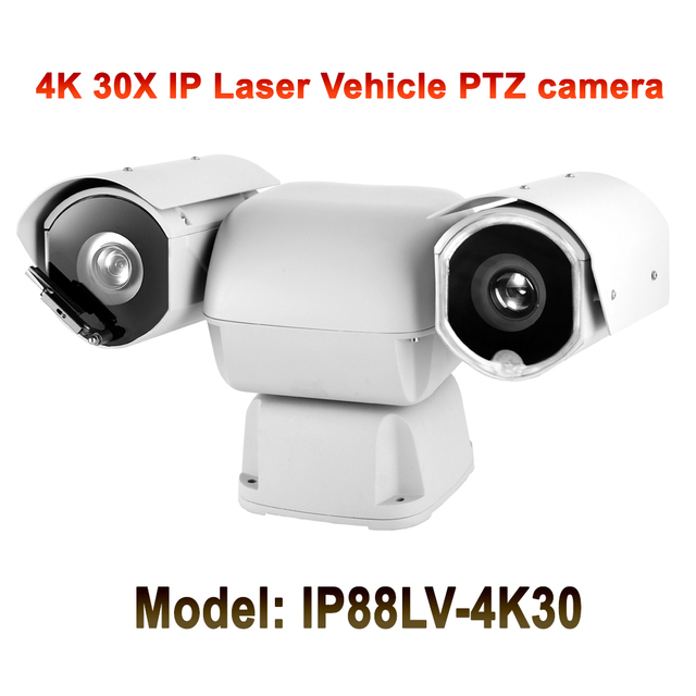 Sony CMOS 1/2.5 Heavy duty mobile vehicle ptz ip camera 4k 8mp 30x optical zoom night vision 550M DC12V IP66 Outdoor