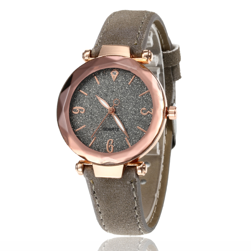 Маленькие свежие мягкие часы женские повседневные кварцевые часы кожа алмазный обруч звездное небо часы Женские Аналоговые наручные часы 100 шт/партия