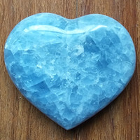 1pc about 400g beautiful natural celestite stones and crystals heart home decoration stone healing crystals