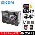EKEN H5S Plus A12 Ultra 4K 30FPS Wifi Action Kamera 30M wasserdichte 1080p gehen EIS Bild Stabilisierung ambarella 12MP pro sport cam-in Sport & Action-Videokamera aus Verbraucherelektronik bei