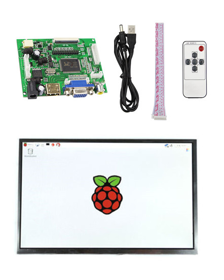 New 7 Inch 10.1 Inch LCD Display Module Screen Monitor 1024x600 With HDMI+VGA+2AV Driver Board For Raspberry Pi