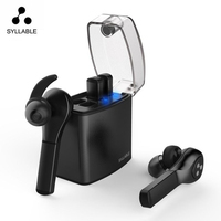SYLLABLE D9X TWS Detachable Battery Bluetooth Earphone Portable Lighter Charge Case Bluetooth Headset Sport Wireless Earbud