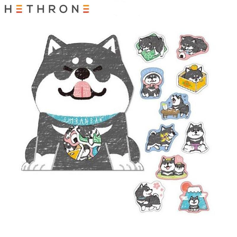 Купить с кэшбэком Hethrone 30pcs/bag Kawaii Shiba Inu Dogs Sticker Stationery Paper Adhesive Stickers For School Journal Decoration Supplies