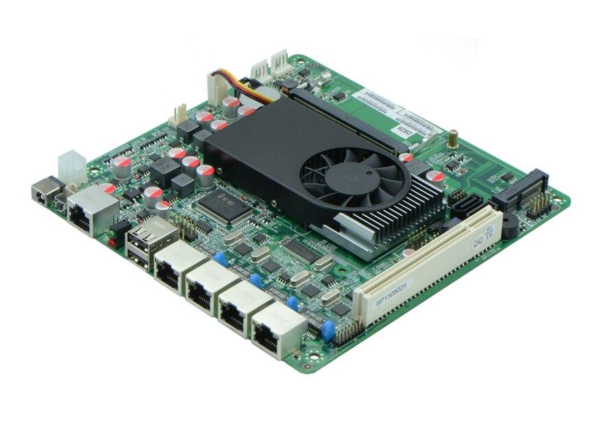 Pare-feu carte mère D525 multi port réseau routeur 4 82583 V Gigabit Lan 2 RS232 Mini ITX pare-feu serveur carte mère