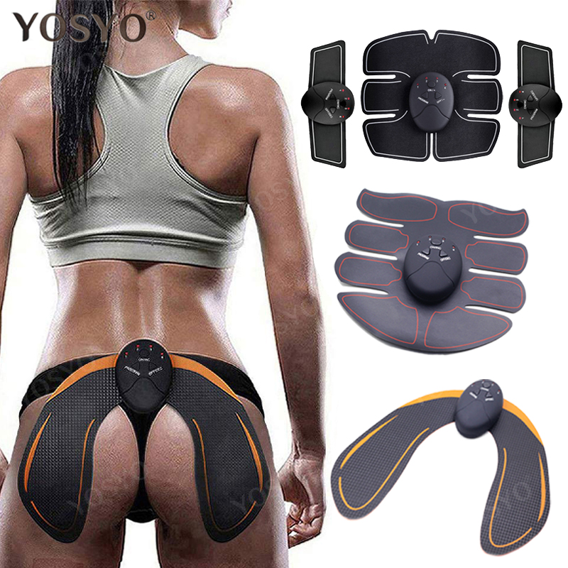 EMS Hip Trainer Muscle Stimulator ABS Fitness Buttocks Butt Lifting Buttock Toner Trainer Slimming Massager Unisex ems hips trainer