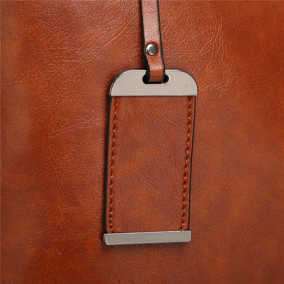 New Vintage Women Tote Leather Handbags 9