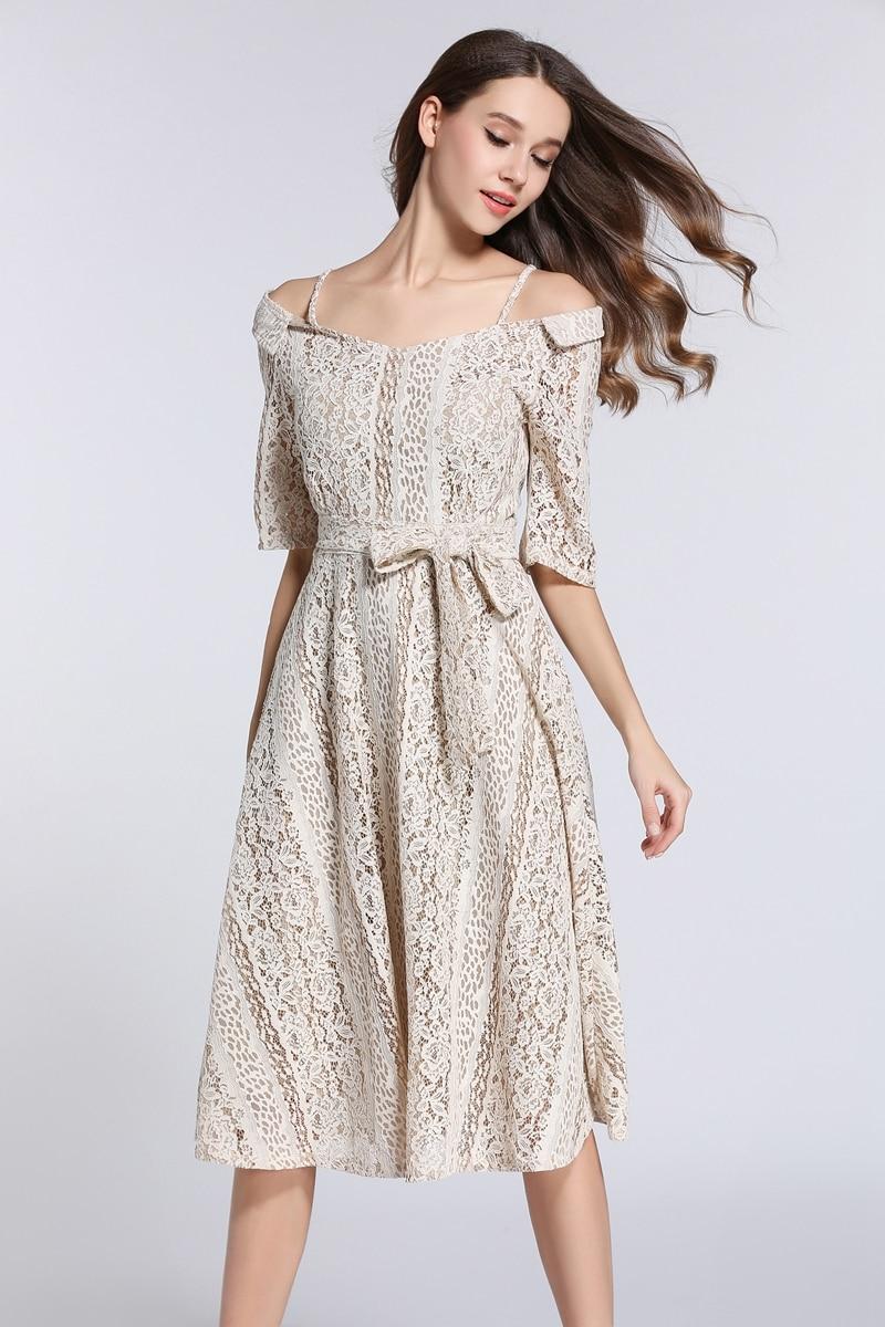 Sommer Kleid Frauen Sexy Schulterfrei Spitze Kleider 2017 Casual ...