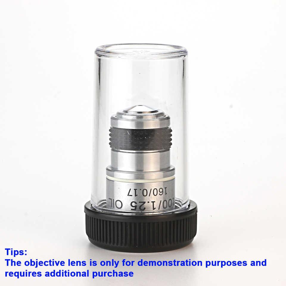 Rms 스레드와 4pcs 현미경 대물 렌즈 상자 플라스틱 렌즈 보호 케이스