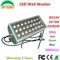 24 W DMX512 RGB LED Wall Washer DC24V ao ar livre holofotes cor mudança LED Projector IP65 à prova d ' água edifícios projetor