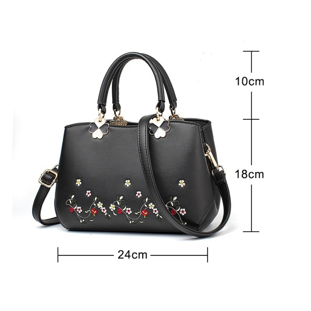 New High Quality Fashion Handbags Women Messenger Bags Leather Shoulder Bag Classic Luxury Famous Brand With Embroidery In From