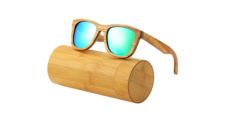 AN SWALLOW New 100% Real Zebra Wood Sunglasses Polarized Handmade Bamboo Mens Sunglass Sun glasses Men Gafas Oculos De Sol Mader 10