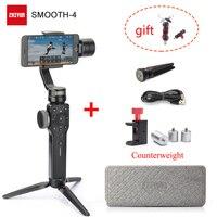 Zhiyun Smooth 4 3 Axis Handheld Gimbal Stabilizer/Feiyu Vimble 2 Selfie Stick + Counterweight for iPhone X 8 7 etc.Smartphone