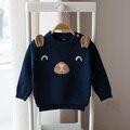 Nuevo 2017 de primavera y otoño de los niños suéteres de dibujos animados bebé niños y niñas de bebé de punto suéteres suéter de manga larga
