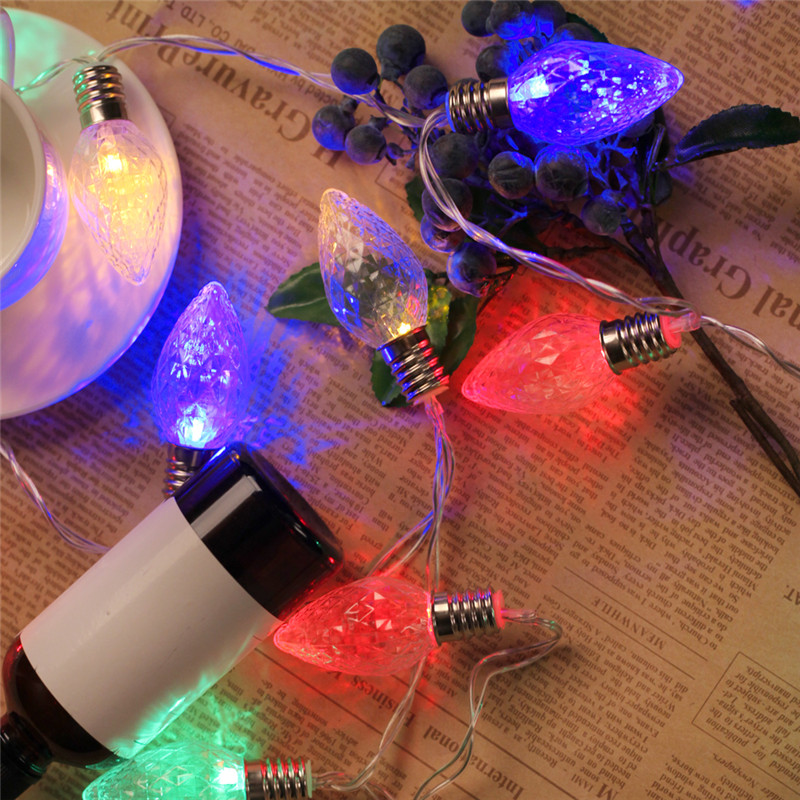 Battery Operated String Lights Fairy Lights 5M 40 LED Strawberry C7 For Christmas Wedding Party Holiday Decoration