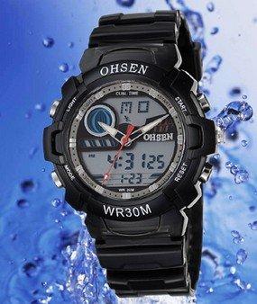 Quartz-Watch Digital Mens New-Fashion LCD Analog Sport Hot-Sale