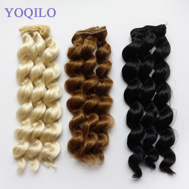 10PCS / LOT Ny Curly Hair Doll DIY Syntetfiberperor BJD Doll Hair 25CM