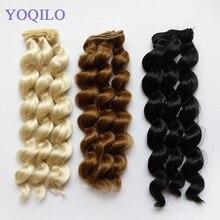 10PCS/LOT New Curly Hair Doll DIY Synthetic Fiber Wigs BJD Doll Hair 25CM